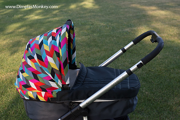 Dimples Monkey Uppababy Vista bassinet canopy comes with a peek-a-boo flap which is integrated with a magnetic closure. & Uppababy Vista Bassinet Canopy